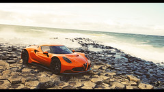 Alfa Romeo Gr.3 Roadcar (at1503) Tags: giantscauseway northernireland uk orange waves sky clouds geological volcanic formation alfaromeo 4c alfaromeo4c coast coastal granturismo granturismosport ps4 game racing digitalphotography digitalmotorsport sunlight light