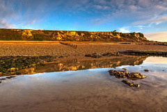 Galley Hill (niloc's pic's) Tags: galleyhill bexhillonsea eastsussex beach cliffs sky clouds reflections rocks rockpool water panasonic lumix dmcgh4r