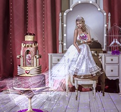 Special Day (Isabella Rumsford) Tags: cake figure 8 royal heart available exclusively trunk show new mesh body maitreya head catya bento skin glam affair alba jamaica hair monso my melisa wedding gown koyuki gownlingerie necklace avaway beatrithpearl cage doves sm dove release purple