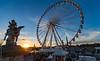 Place de la Concorde au couchant. Paris, déc 2017 (Bernard Pichon) Tags: paris îledefrance france fr bpi760 roue concorde place soleil fr75 lumière