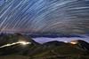 合歡山東峰~雲海●星軌~ Startrails (Shang-fu Dai) Tags: 台灣 taiwan nantou 南投 合歡山 合歡東峰 mthehuan 主峰 星軌 彩色星軌 startrails nikon d800 formosa nightscene starry 車軌 雲海 seaofclouds