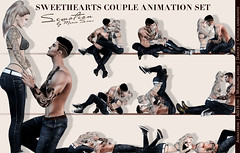 SEmotion Sweethearts Couple Set - 10 smooth sync animations (SEmotion by Marie Sims) Tags: sl secondlife ao animations couple semotion