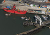 Ex-Trinity House light vessel LV18 - Harwich aerial (John D Fielding) Tags: trinityhouse trinity lightvessel lightship lv18 harwich harbour port pharostrust quay viewfromplane drone hirez hires hidef highresolution highdefinition aerial aerialview aerialimagesuk aerialphotograph aerialimage aerialphotography britainfromabove britainfromtheair