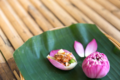 Beautiful Set of Thai Food. (baddoguy) Tags: ancient civilization art backgrounds bamboo material banana leaf blossom boiled egg bowl chef choice color image condiment copy space cultures curry decorating decoration dessert edible flower food drink gourmet group of objects horizontal lotus water lily majestic multi colored no people orchid petal photography pink porcelain readytoeat restaurant royalty soup spoon thai culture thailand vegetable violet