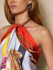 Ralph Lauren n°606 - Detail (Blouse et Foulard 2) Tags: blouse foulard ralph lauren silk scarf