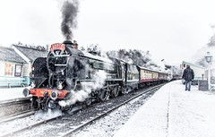 Schools out for winter (Blaydon52C) Tags: snow steam repton schools nymr north yorkshire moors railway rail engine locomotive maunsell southern locomotives loco locomotion railways trains train transport