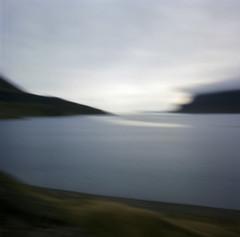fjord pinhole (lawatt) Tags: water fjord reykjarfjördur árneshreppur westfjords iceland film 120 portra 400 hasselblad pinhole rollfilmweek