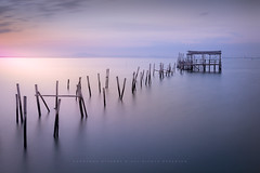 Lagoon (Fernando Piçarra) Tags: blue sunset dusk sunrise twilight dawn reflection dramatic sky jetty moody pier palafitic harbor carrasqueira seascape sea ocean sado river clouds smooth sundown light shed water waterscape httpwwwpictoursportugalcom long exposure hour