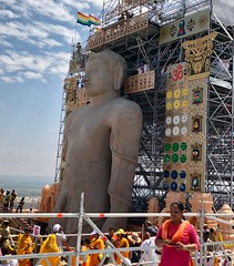 India (Bangalore) Bahubali Jain Festival held once in every 12 years to honour Lord Bahubali. (ustung) Tags: holy statue bangalore karnataka festival bahubali india