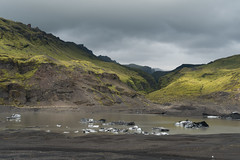 Sólheimajökull Glacier (virtualwayfarer) Tags: iceland is southernregion icelandic nordic island landscape nature naturephotography wild coastal dramatic outdoors powerinnature sólheimajökull glacier glacialmelt iceberg sólheimajökulsvegur greenmoss highway1 highwayone alexberger sonyalpha a7rii visiticeland tourismiceland