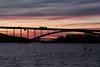 | Swedish Winter Solstice | (erika.bi) Tags: stockholm kungsholmen sweden sverige vinter winter sunset pink sea sjö december sky bridge bro västerbron mälaren