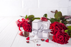 Fresh red roses and gift box on wooden table (lyule4ik) Tags: gift day valentine flower love red romantic background celebration holiday romance wooden box present decoration event greeting heart paper ribbon table concept happy beautiful bow decor surprise rose birthday celebrate design festive card february symbol wood mother lifestyle mum mom congratulations fresh girlfriend petals roses s spring st tradition 14