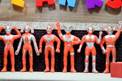 The UltraUsual Suspects - Bijou Planks - 62/965 (MayorPaprika) Tags: mini figs figure pvc miniature smallscale figurine theater diorama toy story scene custom bricks bijouplanks plastic japan gashapon