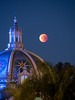 Super Blue Blood Moon End of Totality - St. Frances  Chapel - Balboa Park (Jun C Photography) Tags: night olympus microfourthirds omd mkii astrophotography super sandiego moon u43 em5 blood lunareclipse sky markii mk2 mft blue
