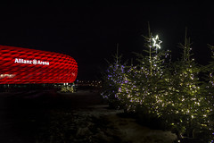 Munich, Germany (Renatas Repčinskas Photo) Tags: munich allianz arena footbal red winter christmas tree night december germany travel trip canon eos 600d