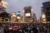 An insane game of frogger (Norse_Ninja) Tags: japan2017 people gopro hero5 city dusk tokyo shibuya sky building skyscraper neon signs crossing pedestrians journeyjd17