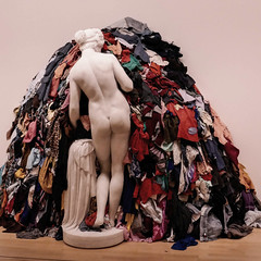 Nothing to wear! (DepictingPhotos) Tags: england liverpool art galleries sculpture humour