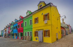 Burano,Venice (y.mihov, Big Thanks for more than a million views) Tags: burano venice colours italy trespass travel tourist town historical yellow green blue sightseeing sonyalpha skyes sky buildings house fisherman village architecture art red retro europe winter