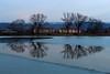 Parallel universe (Petr Hykš) Tags: pond ice trees symmetry water slavkov brno czech nature landscape blue