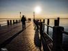 Ponte di Sirmione - Paesaggi - Dino Cristino (2) (Dino Cristino) Tags: dinocristino lignanosabbiadoro paesaggi paesaggistica nikonphoto nikon tramonto sunset skyscape contrasto propsettiva colori sole sfumature