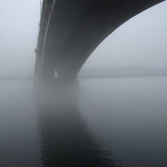 In all consuming isolation (unlucky_one) Tags: fog bridge river reflection