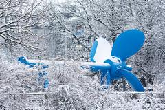 München liegt am Meer (bayernphoto) Tags: muenchen munich winter panorama isar deutsches museum bavaria bayern frost kalt schnee patentamt europaeisches europa baeume verschneit aeste cold freeze weiss blau blue white schiff schraube technik antrieb metall drehen meer wasser rotation