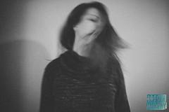 Week 8: Grain (bmurphy502) Tags: sp selfportrait grain movement hair bnw blackandwhite bw 2018p52 me femme centered blur iso