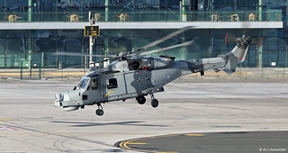 Royal Navy AW159 Wildcat HM2 ZZ530 from HMS Somerset (F82) at RAF Gibraltar