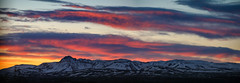 Sunrise over mountain Vífilfell (Arnar Bergur) Tags: fjall landscape sunrise sunset peak winter sólris mountains vífilfell outdoor reykjavík iceland clouds ísland