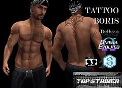 TOP STRIKER BORIS TATTOO (Top Striker) Tags: topstriker roymildor boris tattoo omega signature gianni slink addam