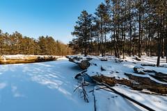 Kettle River in Sandstone, Minnesota (Tony Webster) Tags: banningstatepark january januaryinminnesota kettleriver minnesota frozen frozenriver goldenhour ice river sandstone snow sunset winter winterinminnesota unitedstates us