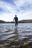- L'homme qui marchait sur l'eau des volcans - (Frog 974) Tags: îledelaréunion ngc cratère lac volcanique pitondelafournaise