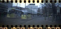 UK - Manchester trams (onewayticket) Tags: tram transport urban metrolink film lomography lomo sprocketrocket lomographysprocketrocket canoscan9000f bombardier m5000 bombardierm5000