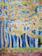 Bosque de abedules (benilder) Tags: acuarela watercolor watercolour aquarelle abedul arbres árboles trees wood imaginative benilde