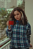 Coffee Time (TheJennire) Tags: photography fotografia foto photo canon camera camara colours colores cores light luz young tumblr indie teen people portrait curlyhair coffee coffeetime mug selfportrait 50mm plaid winter cozy lifestyle 2017 home girl
