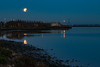 Super Moon Set Over the Slough (Jill Clardy) Tags: california harbor northamerica redwoodcity seaportblvd supermoon usa blue bluemoon eclipse moon moonset morning slough westpoint predawn 201801314b4a8078 san francisco bay hills explore explored