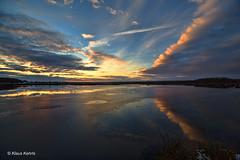 Moorlandschaft - 05021802 (Klaus Kehrls) Tags: landschaft natur moor sonnenuntergang abendstimmung himmelmoor schleswigholstein quickborn himmel wolken spiegelung