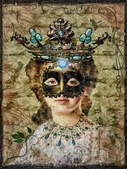 Regisuanta (Swissrock-II) Tags: digitalmania digitalart photoshop photomanipulation photoshopart lightroom pixlr deviantart oilpaint crown quenn princess mask inspired inspiration texture textureart