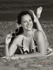 Beach Pinup (Lerro Photography) Tags: wwiiwomen womenreenactors vintagefashion worldwarii conneaut ohio ddayconneaut wwiifashion reenactor beach beachpinup pinup sunglasses bw