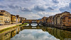 Reflections of Florence... (Ring of Fire Hot Sauce 1) Tags: italy florence pontevecchio bridge arno river reflection
