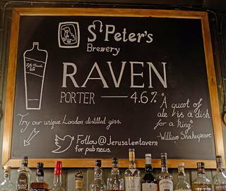 Beer Board ( Jerusalem Tavern - Farringdon ) London (Fujifilm X100F) (1 of 1)