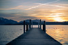 Landing stage (Rico the noob) Tags: chiemsee 50mmf12 50mm landscape sunset nature water germany outdoor lake snow trees 2017 dof tree wood forest published bokeh sky animals sun d850 mountains clouds
