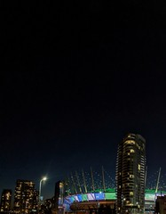 City from the overpass. (thnewblack) Tags: vancouver britishcolumbia google pixel2xl android smartphone photography lowlight night bcplace snapseed 122mp hdr f18