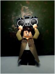 Say Anything (LegoKlyph) Tags: lego brick block mini figure movie 80s peter gabriel boombox john cusack ione skye