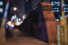 Madison Street Bridge (Jovan Jimenez) Tags: madison street bridge bokeh sony a6500 6500 ilce night tilt shift tiltshift nikon series e seriese eseries 50mm f18 pancake chicago alpha kipon adapter