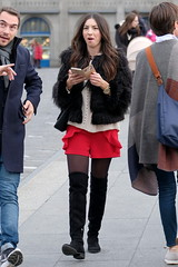 Fluffy Jacket 1 (booster_again) Tags: shorts tights pantyhose boots