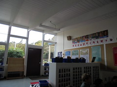 DSC00096 (classroomcamera) Tags: school classroom books book bookshelf bookshelves shelves shelf wall walls corner window windows inside indoors outdoors outside art artwork student students kid kids child children white ceiling day daytime empty lonely alone