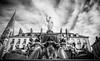 Place Royale fountain (syl20_44) Tags: nantes loireatlantique francesyl2044 france syl20 44 frozen fountain place royale cold freeze sylvain architecture sky building black white canon 70d tokina 1116mm nd filter long exposure