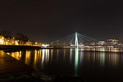 Severinsbrücke im Kölner Hochwasser