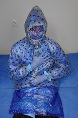 Blue PVC raincoats and jacket (coatrPL) Tags: blue pvc raincoat rainwear jacket rainsuit breathplay plastic płaszcz przeciwdeszczowe kurtka kaptur pcv płaszczyki gloves rubber